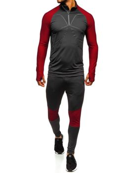 Men's Tracksuit Graphite-Red Bolf 509