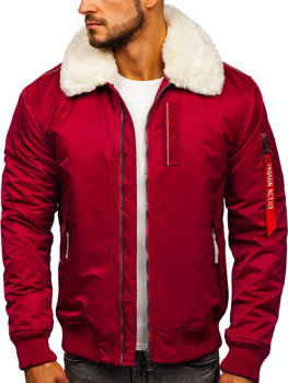 Men's Transitional Aviator Jacket Claret Bolf 1787