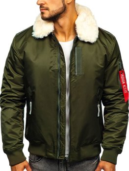 Men's Transitional Aviator Jacket Green Bolf 1787