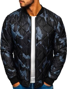 Men's Transitional Bomber Jacket Camo-Graphite Bolf MY01