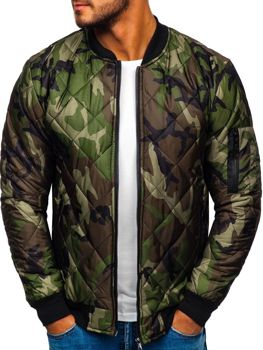 Men's Transitional Bomber Jacket Camo-Green Bolf MY01