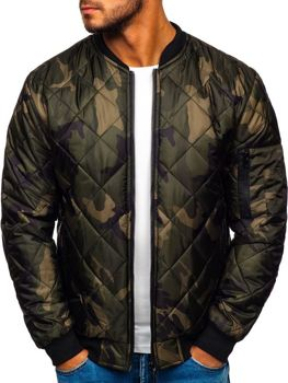 Men's Transitional Bomber Jacket Camo-khaki Bolf MY01