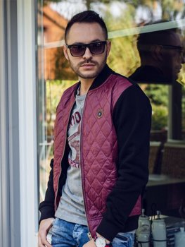 Men's Transitional Bomber Jacket Claret Bolf 2569-2