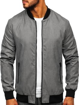 Men's Transitional Bomber Jacket Grey Bolf 6120