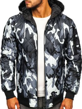 Men's Transitional Down Jacket Camo-Grey Bolf MY21M