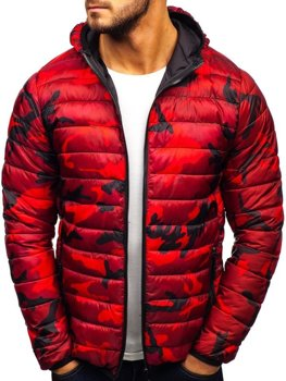 Men's Transitional Down Jacket Camo-Red Bolf LY1001-1