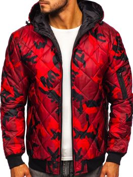 Men's Transitional Down Jacket Camo-Red Bolf MY21M