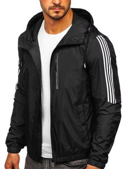 Men's Transitional Down Jacket with Hood Black Bolf 6172