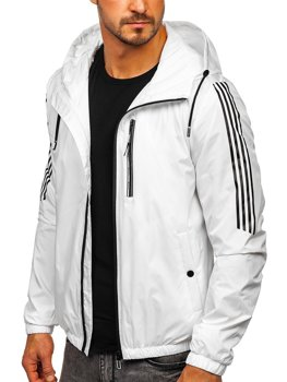 Men's Transitional Down Jacket with Hood White Bolf 6172