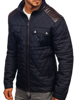 Men's Transitional Jacket Navy Blue Bolf K007