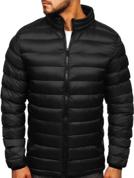 Men's Transitional Quilted Down Jacket Black Bolf 1111-1