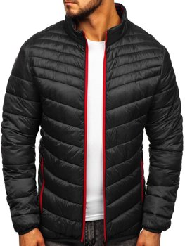 Men's Transitional Quilted Jacket Black Bolf 1137