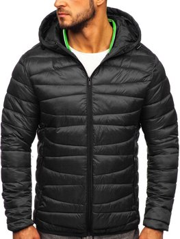 Men's Transitional Quilted Jacket Black Bolf 1139