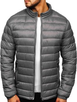 Men's Transitional Quilted Jacket Grey Bolf 1119