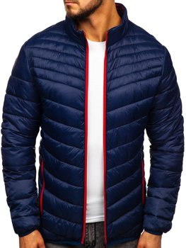 Men's Transitional Quilted Jacket Navy Blue Bolf 1137