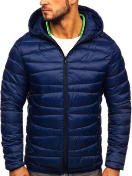 Men's Transitional Quilted Jacket Navy Blue Bolf 1139