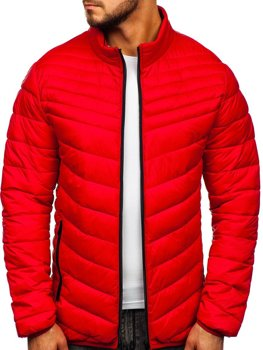 Men's Transitional Quilted Jacket Red Bolf 1137