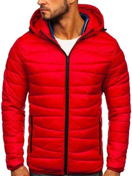 Men's Transitional Quilted Jacket Red Bolf 1139