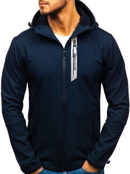 Men's Transitional Softshell Jacket Navy Blue Bolf 5480-A