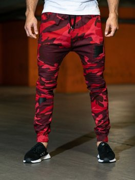 Men's Trousers Camo-Red Bolf 0829