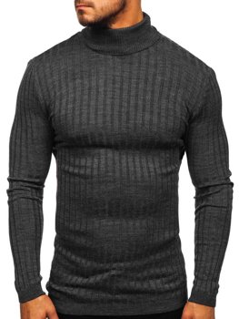 Men's Turtleneck Jumper Anthracite Bolf 2002