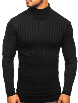 Men's Turtleneck Jumper Black Bolf 2002