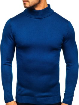 Men's Turtleneck Jumper Blue Bolf 4519