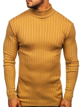 Men's Turtleneck Jumper Camel Bolf 2002