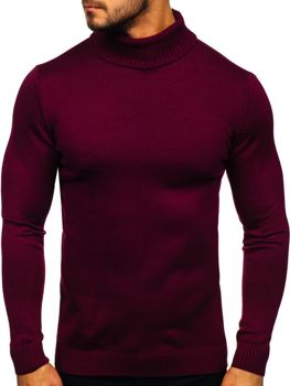 Men's Turtleneck Jumper Claret Bolf 4519