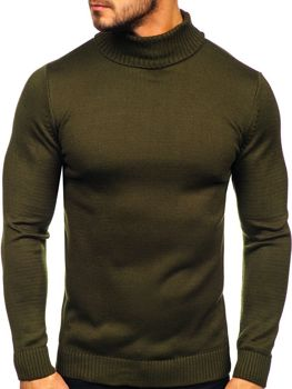 Men's Turtleneck Jumper Green Bolf 4519
