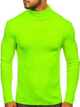 Men's Turtleneck Jumper Green-Neon Bolf 2002
