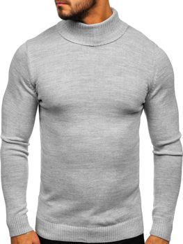Men's Turtleneck Jumper Grey Bolf 4519