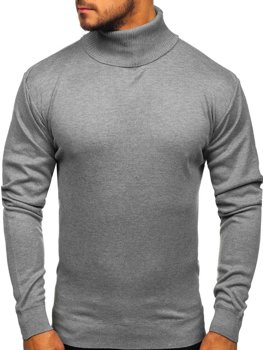 Men's Turtleneck Jumper Grey Bolf GF14