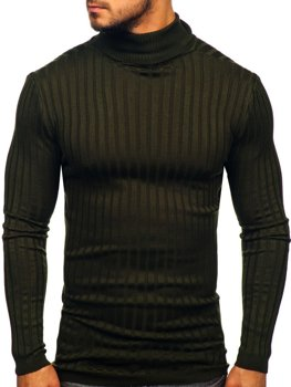 Men's Turtleneck Jumper Khaki Bolf 2002