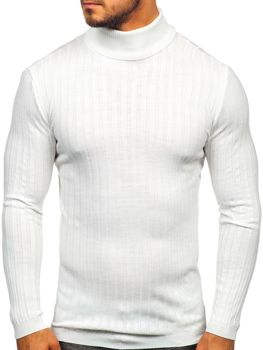 Men's Turtleneck Jumper White Bolf 2002