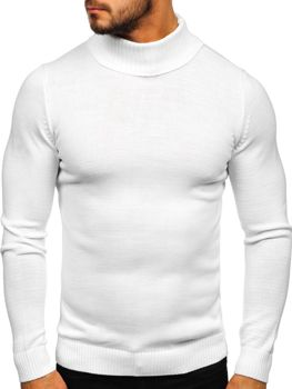 Men's Turtleneck Jumper White Bolf 4519