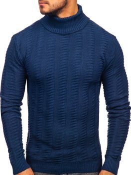 Men's Turtleneck Sweater Blue Bolf 314