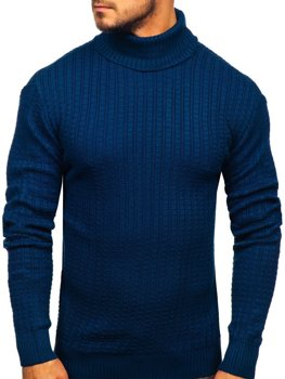 Men's Turtleneck Sweater Blue Bolf 315