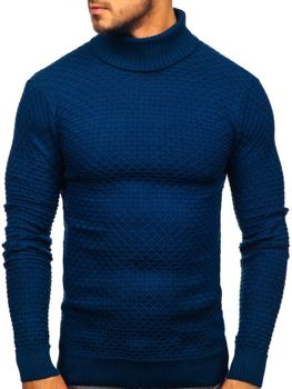 Men's Turtleneck Sweater Blue Bolf 322