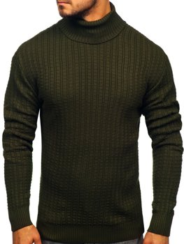 Men's Turtleneck Sweater Green Bolf 315
