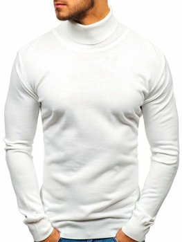 Men's Turtleneck Sweater White Bolf 2400