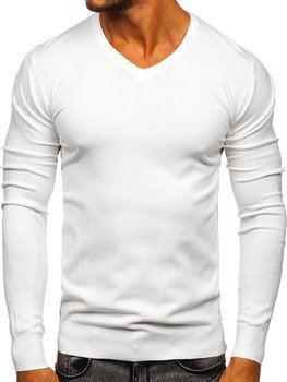 Men's V-neck Sweater White Bolf YY03
