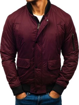 Men's Winter Bomber Jacket Claret Bolf 1769
