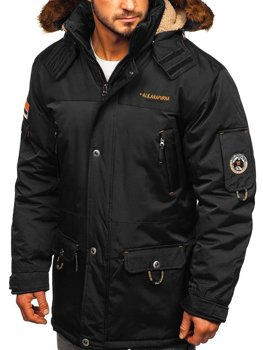 Men's Winter Jacket Black Bolf 40014