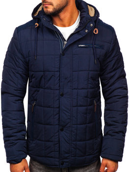 Men's Winter Jacket Navy Blue Bolf 1672