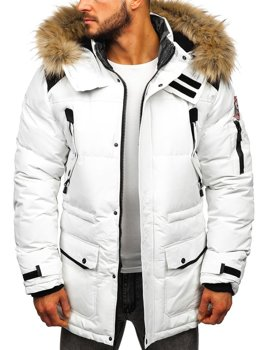 Men's Winter Jacket White Bolf 5948