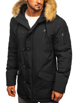 Men's Winter Parka Jacket Black Bolf 1971
