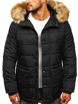 Men's Winter Parka Jacket Black Bolf JK361