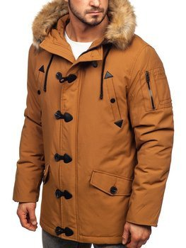 Men's Winter Parka Jacket Camel Bolf 1971
