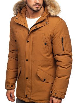 Men's Winter Parka Jacket Camel Bolf 1972